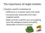 the importance of target markets1