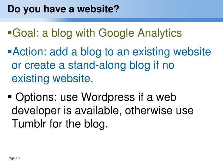 Do you have a website
