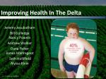 improving health in the delta