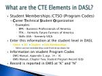 what are the cte elements in dasl1