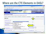 where are the cte elements in dasl1