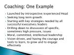 coaching one example