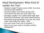 head development what kind of leader are you