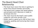 the board head chair relationship