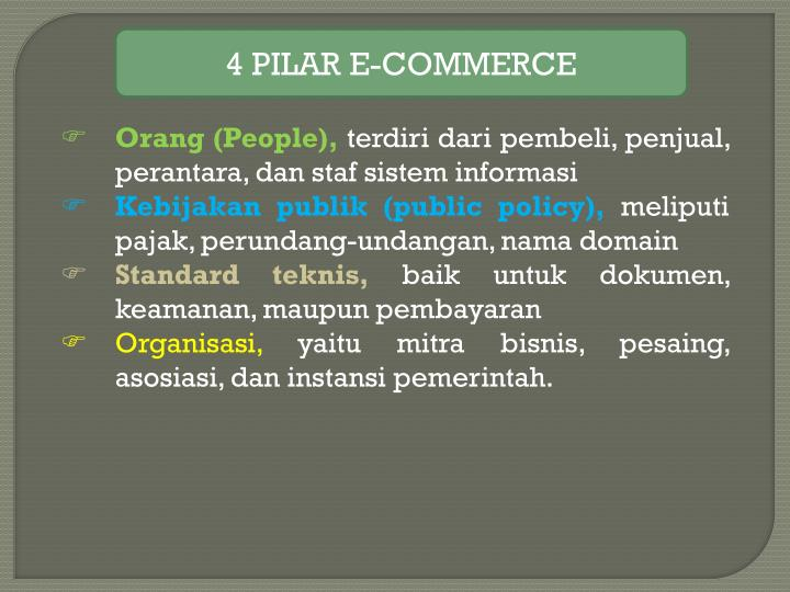 4 PILAR E-COMMERCE