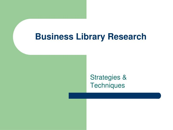 business library research n.