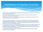 attribution of quotes exercise