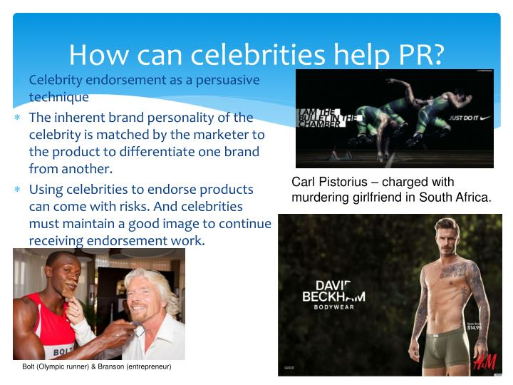 How can celebrities help PR?