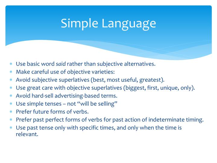 Simple Language