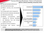 forces driving business voice of customer what are customers demanding and business drivers