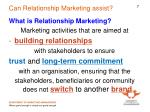 can relationship marketing assist