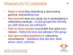 principles to consider