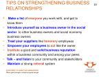 tips on strengthening business relationships