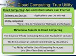 cloud computing true utility