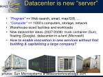 datacenter is new server