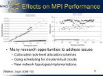 effects on mpi performance