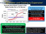 power and cooling is expensive