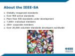 about the ieee sa