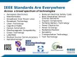 ieee standards are everywhere across a broad spectrum of technologies