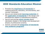 ieee standards education mission