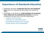 importance of standards education