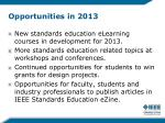 opportunities in 2013