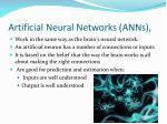 artificial neural networks anns