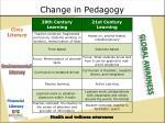 change in pedagogy