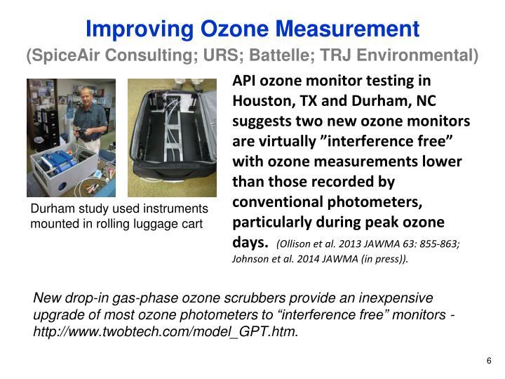 Improving Ozone Measurement