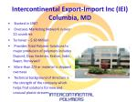 intercontinental export import inc iei columbia md
