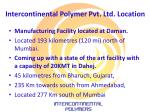 intercontinental polymer pvt ltd location