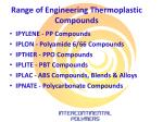 range of engineering thermoplastic compounds