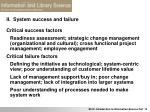 ii system success and failure7