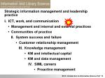 strategic information management and leadership practice