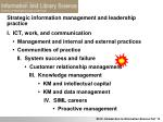 strategic information management and leadership practice1