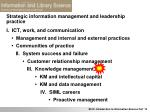 strategic information management and leadership practice2