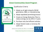 green communities grant program