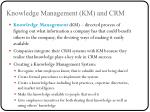 knowledge management km and crm