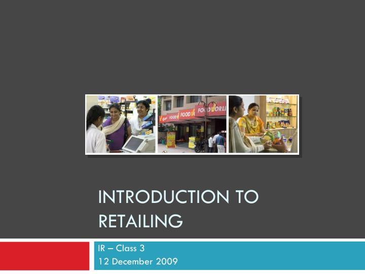 introduction to retailing n.