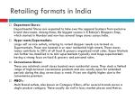 retailing formats in india1