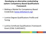 developing an alternative credentialing system competency based qualifications framework