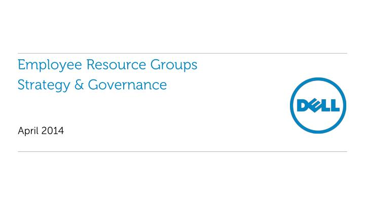 employee resource groups strategy governance n.