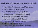 web time expense entry approvals