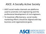 asce a socially active society
