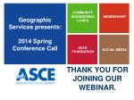 geographic services presents 2014 spring conference call6