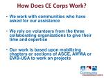 how does ce corps work