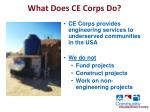what does ce corps do