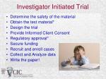 investigator initiated trial