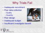 why trials fail