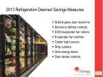 2013 refrigeration deemed savings measures